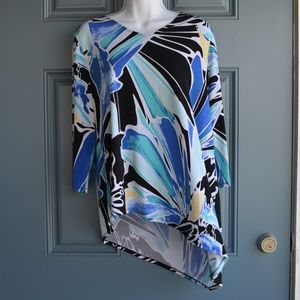 Abstract Print Tunic Top by Chico's Sz.S